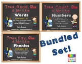 Trace, Glue & Write Bundled Set - Count, Say & Read