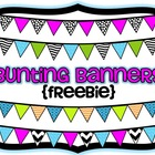 Bunting Banners {Freebie}