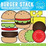 Burger Stack! - Hamburger Color & Line Art Graphics