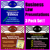 Business Law 3 Pack of Power Points in PDF Format = $aving