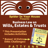 Business Law: Defining Wills, Estates & Trusts (PPT in PDF