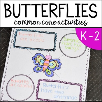 Butterflies! Common Core Aligned Activities