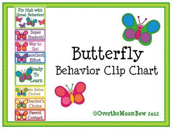 Butterfly Behavior Clip Chart