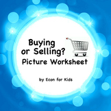 """Economics Picture Worksheet - """"Buying or Selling?"""""""