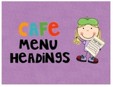 CAFE Headings and Letters (FREE)