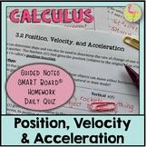 Position Velocity & Acceleration
