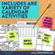 CALENDAR TASK CARDS & ACTIVITIES