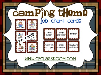 CAMPING THEME JOB CHART-classroom theme {printables)