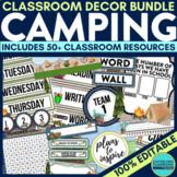 CAMPING Classroom Theme EDITABLE Decor 34 Printable Produc