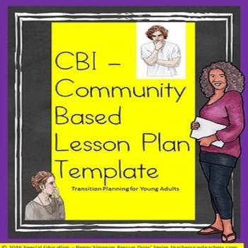 CBI Community Based Instruction Blank Lesson Plan Template