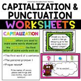 CCSS Grammar for 1st Grade - Capitalization, Commas and En