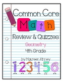 CCSS Math 4th Grade Geometry Practice and Quizzes