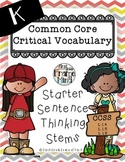 Common Core Vocabulary Sentece Frames K-8 CHEVRON