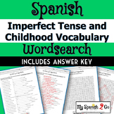 CHILDHOOD VOCAB AND IMPERFECT TENSE:  Fill-In-The-Blank an