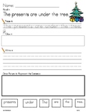 CHRISTMAS WORD WORK LITERACY ACTIVITY: Read &Trace &Build