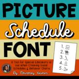 CK Picture Schedule Pics Font