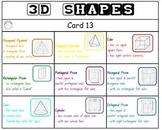 """CLASSROOM BINGO"" 3D Shapes Bingo! Class Set!"