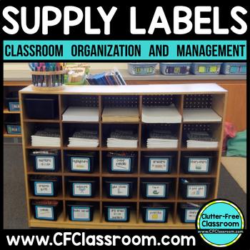 CLASSROOM ORGANIZATION LABELS School Supplies