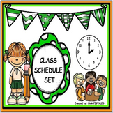 BACK TO SCHOOL SCHEDULE SET/ GREEN POLKA DOT