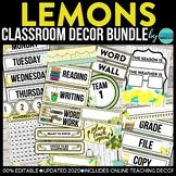 CLOUDS & SUN - classroom design bundle (grey and yellow theme)