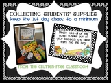 COLLECTING STUDENT SUPPLIES Back to School Ideas / Classro