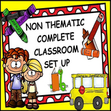 COLORFUL CLASSROOM DECOR AND MANAGEMENT SET BUNDLE