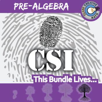 CSI: Pre-Algebra -- STEM Project -- Complete eBook