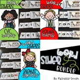 CVC, Blend, AND Digraph Word Sliders BUNDLE