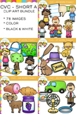CVC Clip Art - Short A Word Family Bundle