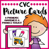 CVC Picture Cards {A Multipurpose Phonemic Awareness Activ