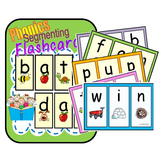 CVC Segmenting and Phonemic Awareness Flashcards AEIOU BUN