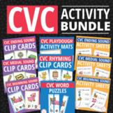 CVC Super Bundle: CVC Word Family and Phonics Activities for ECE