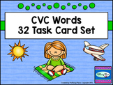 CVC Word Task Cards - Phonics Spelling and Writing Practice Pages