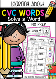 CVC Words ~ Solve a Word