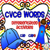 CVCE Words ~ Differentiated Activities ~ CCSS Style