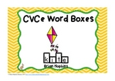 CVCe Word Boxes Write On Wipe Off Task Cards