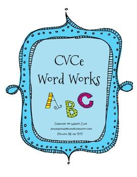 CVCe Word Works Center Activities!