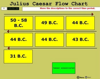 Caesar Writing Activity - Three Views of Julius Caesar - B