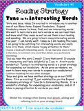 Reading Strategy Lesson Cards 5th Grade