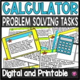 """CALCULATOR PRACTICE/MATH TASK SET/ """"May the Calculator For"""