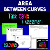 Calculus  Area Between Curves  *Task Cards*  QR*