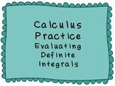 Calculus Evaluating Definite Integrals Finding Area betwee