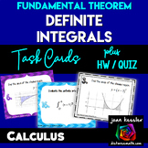 Calculus:   Integration  Fundamental Theorem  *Task  Cards