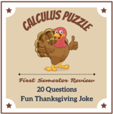 Calculus Review Thanksgiving Puzzle