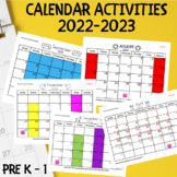 Calendar Activities 2015-2016