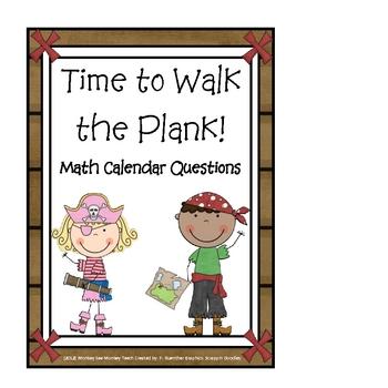 "Calendar Math Cards ""Time to Walk the Plank"""