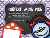 Calendar Math Pack Purple & Black