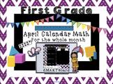 Calendar Math SMARTBoard for April Common Core - Attendanc