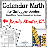 Calendar Math for the Upper Grades 4th Grade Starter Kit