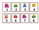 Calendar Numbers - Little Monsters